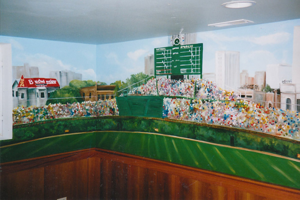 Wrigley field wall mural home design for Baseball field wall mural